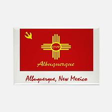 Albuquerque NM Flag Rectangle Magnet (100 pack)