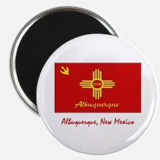 """Albuquerque NM Flag 2.25"""" Magnet (10 pack)"""