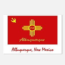 Albuquerque NM Flag Postcards (Package of 8)