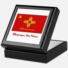 Albuquerque NM Flag Keepsake Box