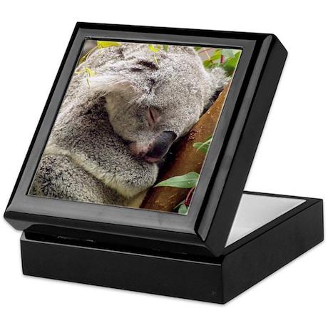Sleeping Koala Bear Keepsake Box