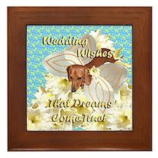 Wedding Wishes Dachshund Dogs Framed Tile