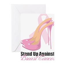 Cool Pink ribbon Greeting Cards (Pk of 10)