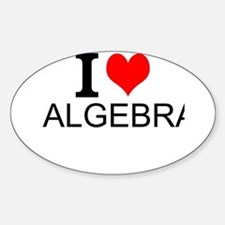 I Love Algebra Decal