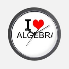 I Love Algebra Wall Clock