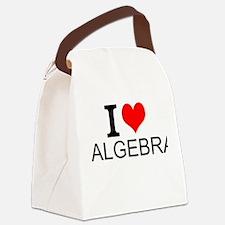 I Love Algebra Canvas Lunch Bag
