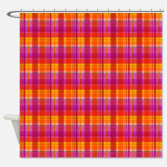 Fall Colors Plaid Shower Curtain