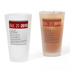 Back to the Future List Drinking Glass