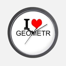 I Love Geometry Wall Clock