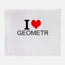 I Love Geometry Throw Blanket