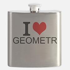 I Love Geometry Flask