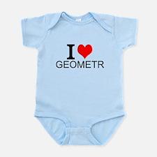 I Love Geometry Body Suit