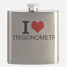 I Love Trigonometry Flask
