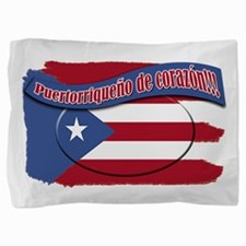 Puerto Rico corazon.png Pillow Sham
