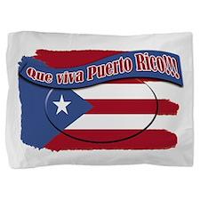 2-que viva Puerto Rico cl1.png Pillow Sham