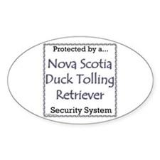 Toller Security Oval Decal