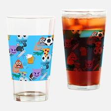 blue boy emoji Drinking Glass