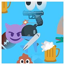 blue boy emoji Poster