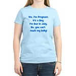 Pregnant Boy due July Belly Women's Light T-Shirt