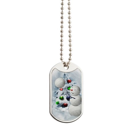 Volleyball Snowman xmas Dog Tags by listing-store-3804076
