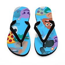 blue boy emoji Flip Flops