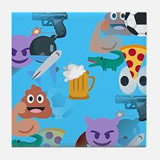 blue boy emoji Tile Coaster