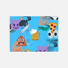 blue boy emoji 5'x7'Area Rug