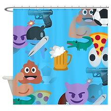blue boy emoji Shower Curtain