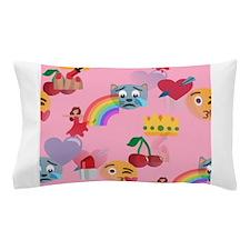 pink girl emoji Pillow Case