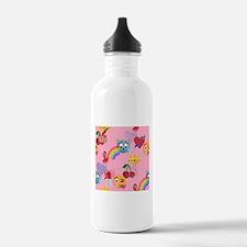 pink girl emoji Water Bottle