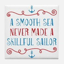 Skillful Sailor Tile Coaster