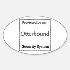 Otterhound Security Oval Decal