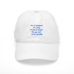 Pregnant Boy due August Belly Baseball Cap
