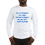 Pregnant Boy due August Belly Long Sleeve T-Shirt