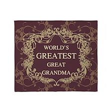 World's Greatest Great Grandma Throw Blanket
