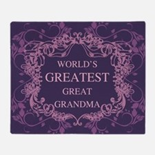 Cute World%27s best grandma Throw Blanket