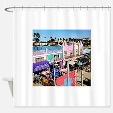 Pastel Row Shower Curtain