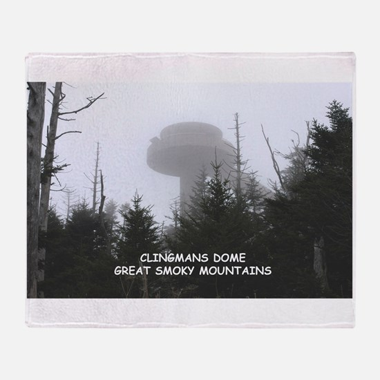 Clingman's Dome In The Fog Throw Blanket