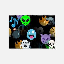 halloween emoji 5'x7'Area Rug