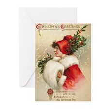 Funny Vintage christmas Greeting Cards (Pk of 10)