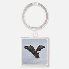 The Eagle has landed Square Keychain