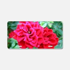 Miniature Roses Aluminum License Plate