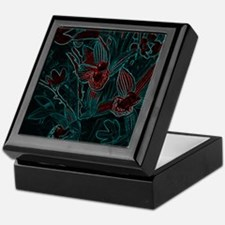 Fluorescent Flowers Keepsake Box