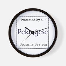 Pekingese Security Wall Clock