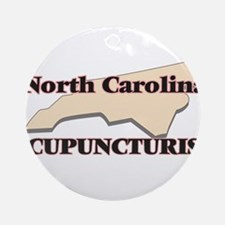 North Carolina Acupuncturist Round Ornament