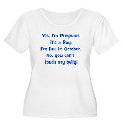 Pregnant Boy due October Bell T-Shirt