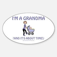 I'm A Grandma Oval Decal