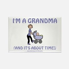 I'm A Grandma Rectangle Magnet