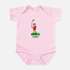 bit golf red Infant Bodysuit