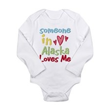 Funny Retro solopress state town usa someone heart Long Sleeve Infant Bodysuit